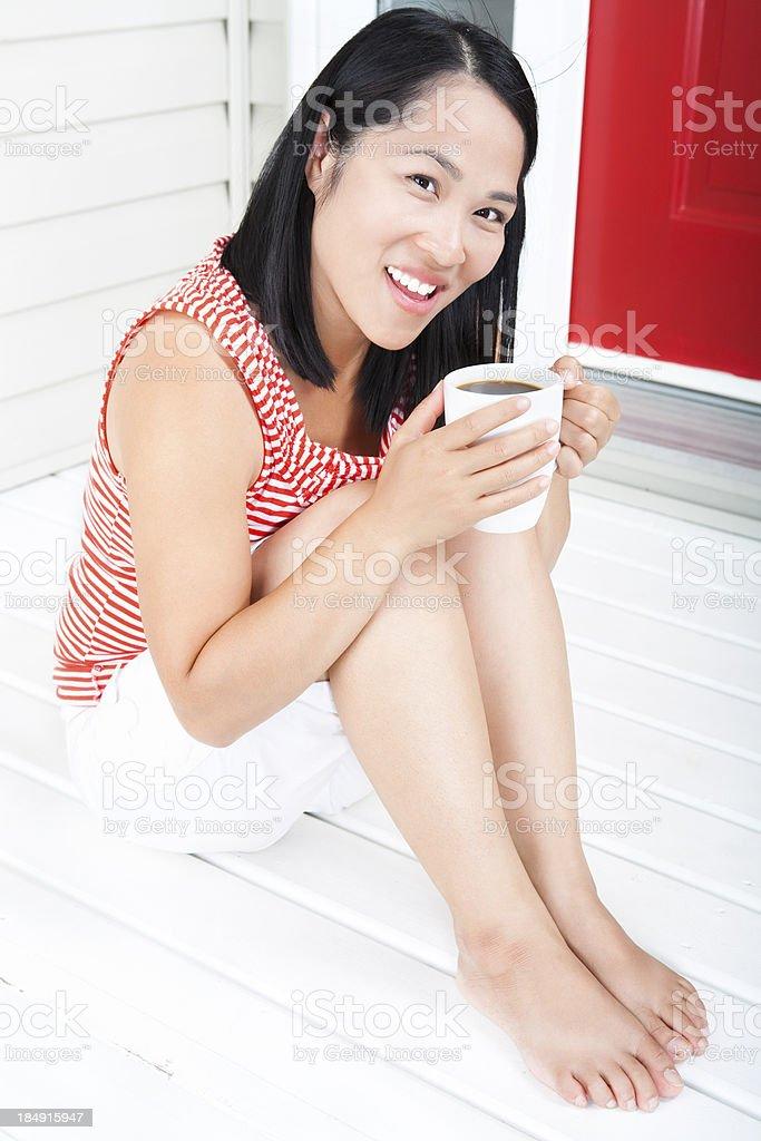 Women drinking coffee royalty-free stock photo