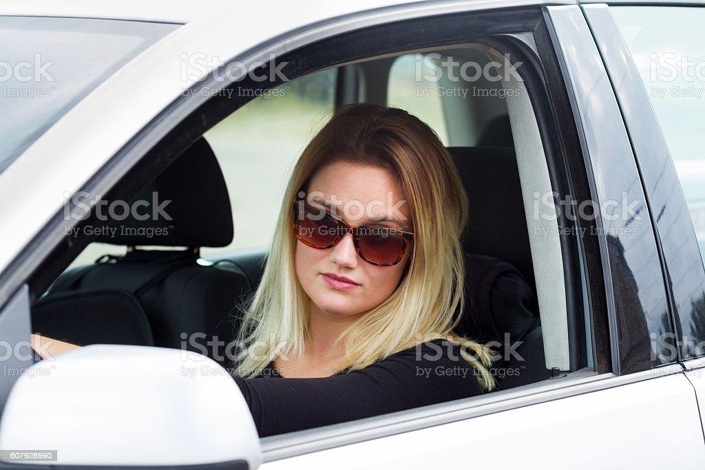 women driver stock photo
