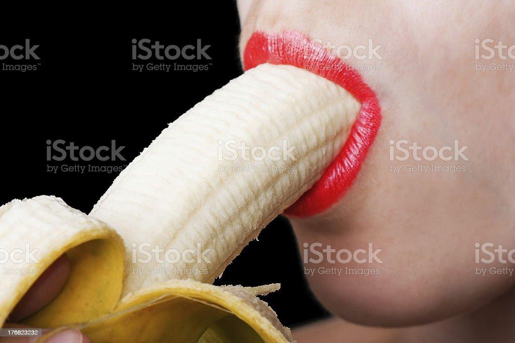 Frauen Essen Banane – Foto