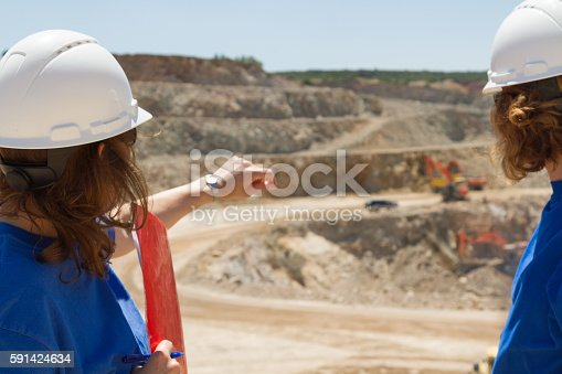 istock women engineers at mine in collobration 591424634