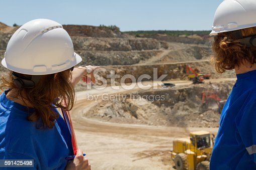 istock women engineers at mine in collobration 591425498