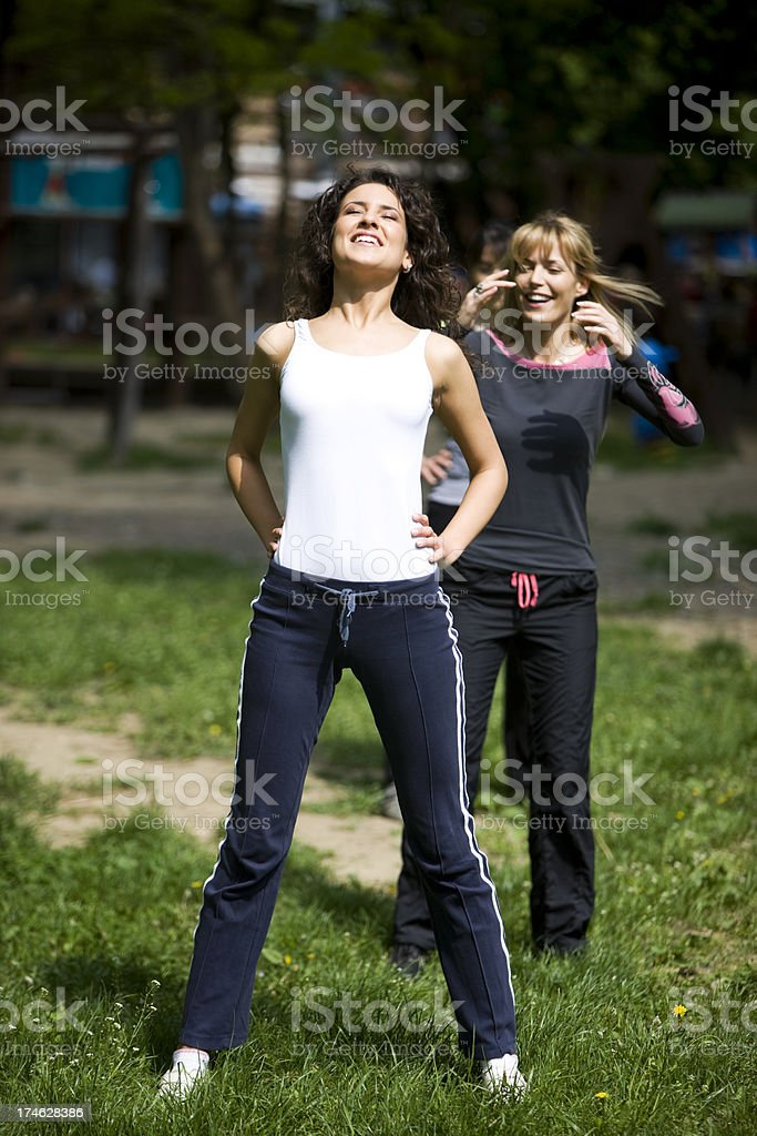 Women exercising royalty-free stock photo