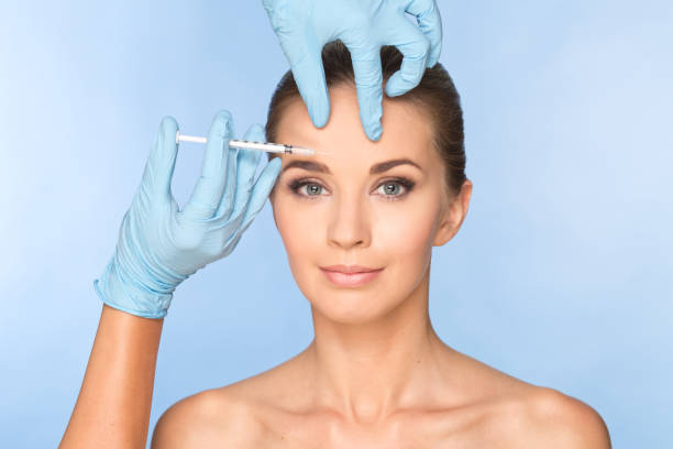 Women face with botox - foto stock
