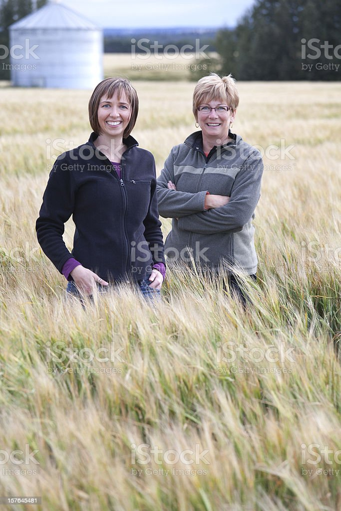 Women Farmers on Farm stock photo