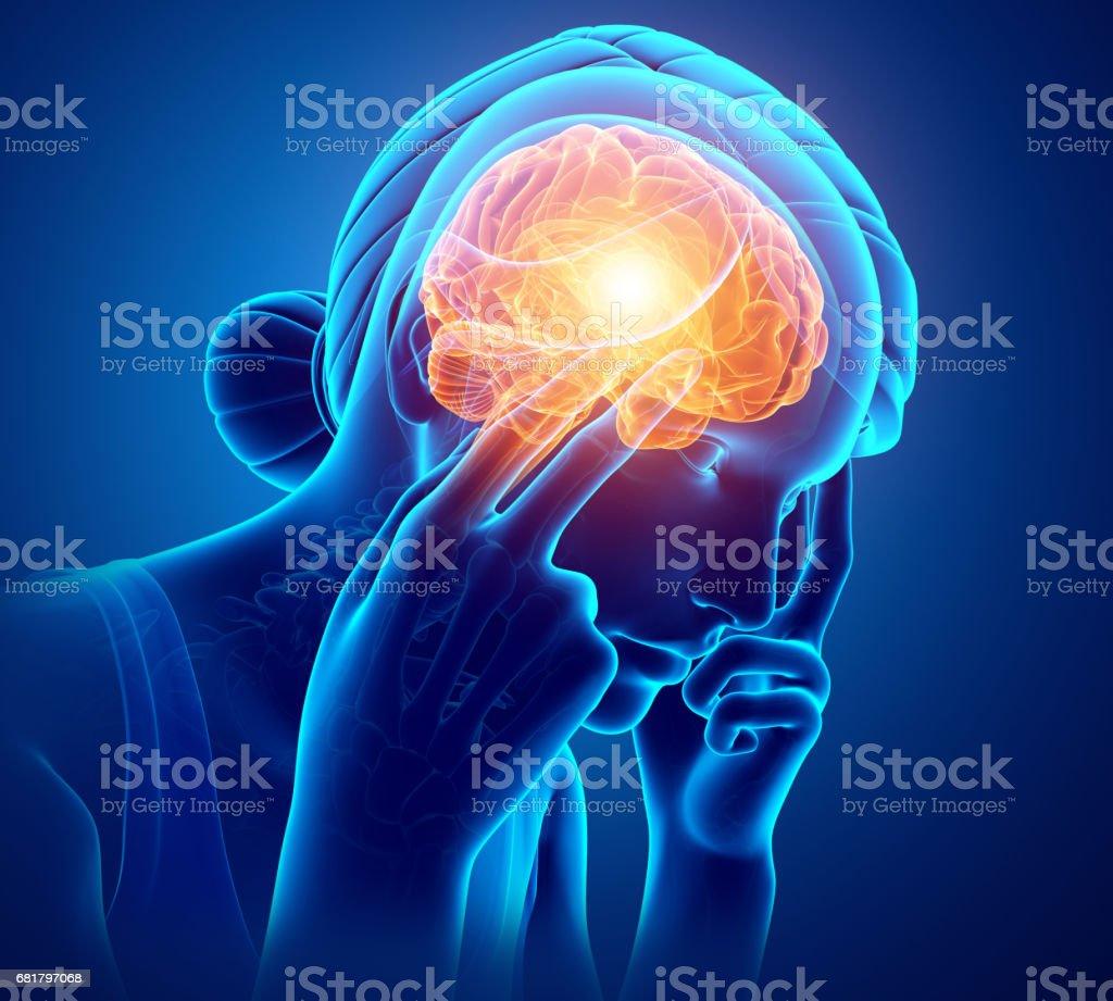 Women Feeling Headache royalty-free stock photo