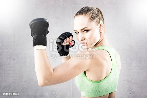 istock Women Fighter in a Stand Off 498982340
