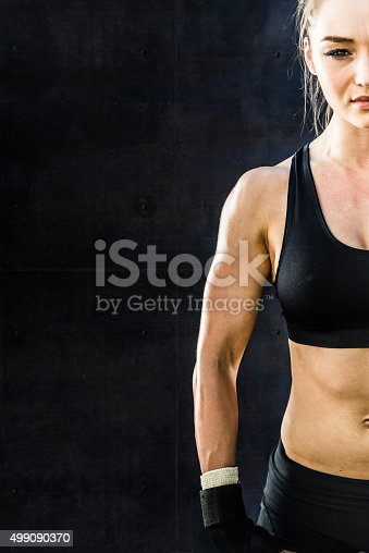 istock Women Fighter in a Stand Off 499090370