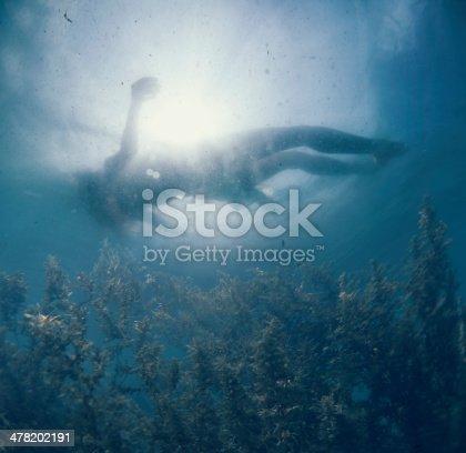 women figure in water