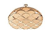 女性金色のハンドバッグ