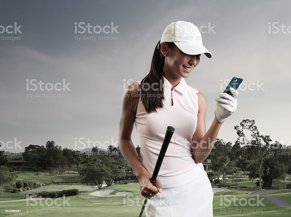 SMS de femmes golfeur - Photo