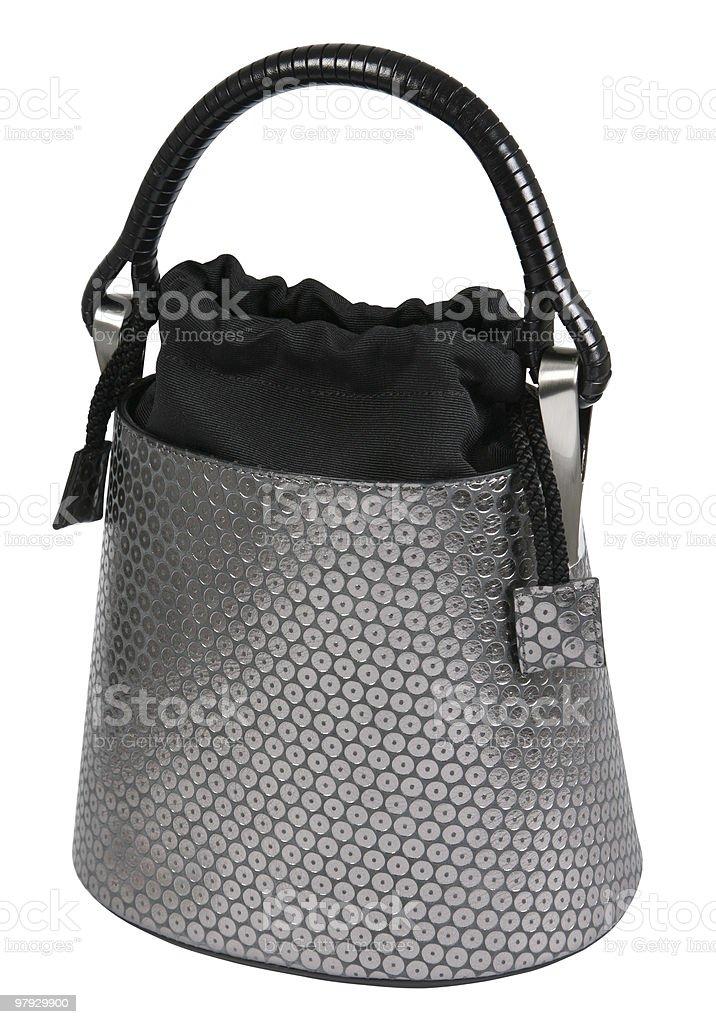 Women gray bag royalty-free stock photo