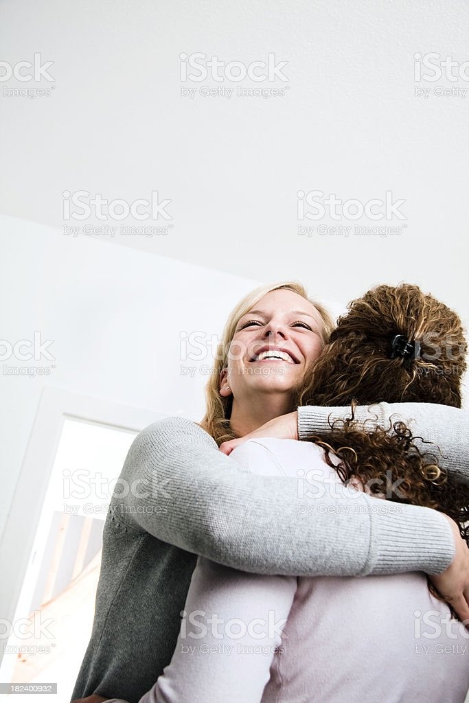 Women Greeting with Kiss royalty-free stock photo