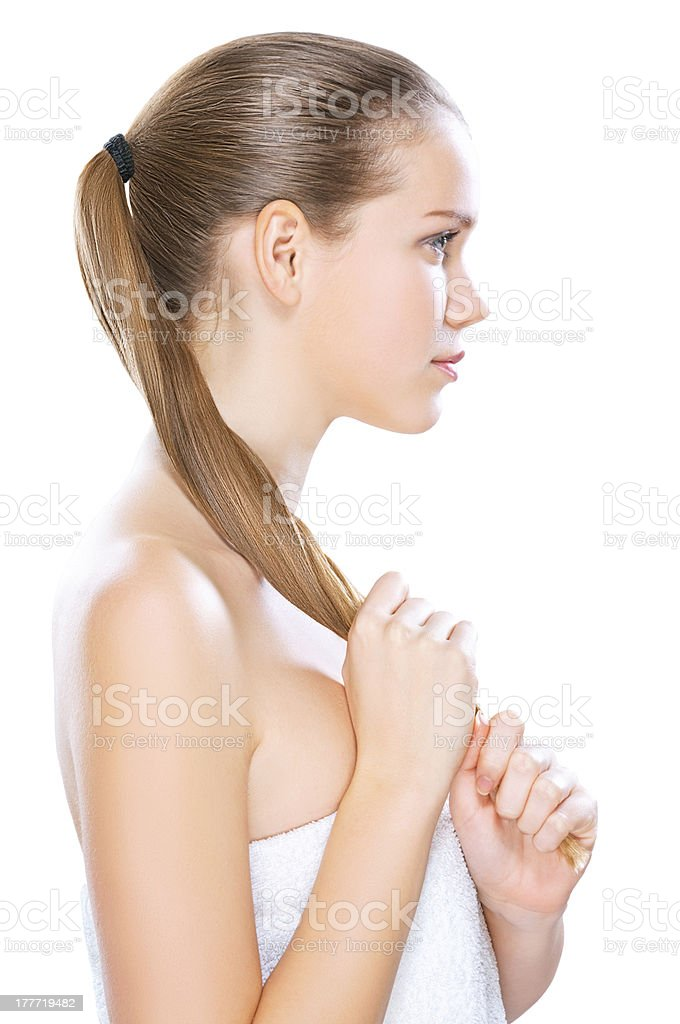Women hair care stock photo