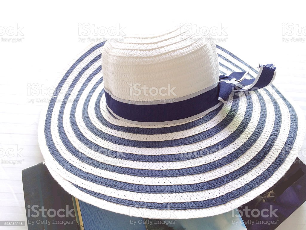 women hat beach with ribbon for summer fashion image foto royalty-free