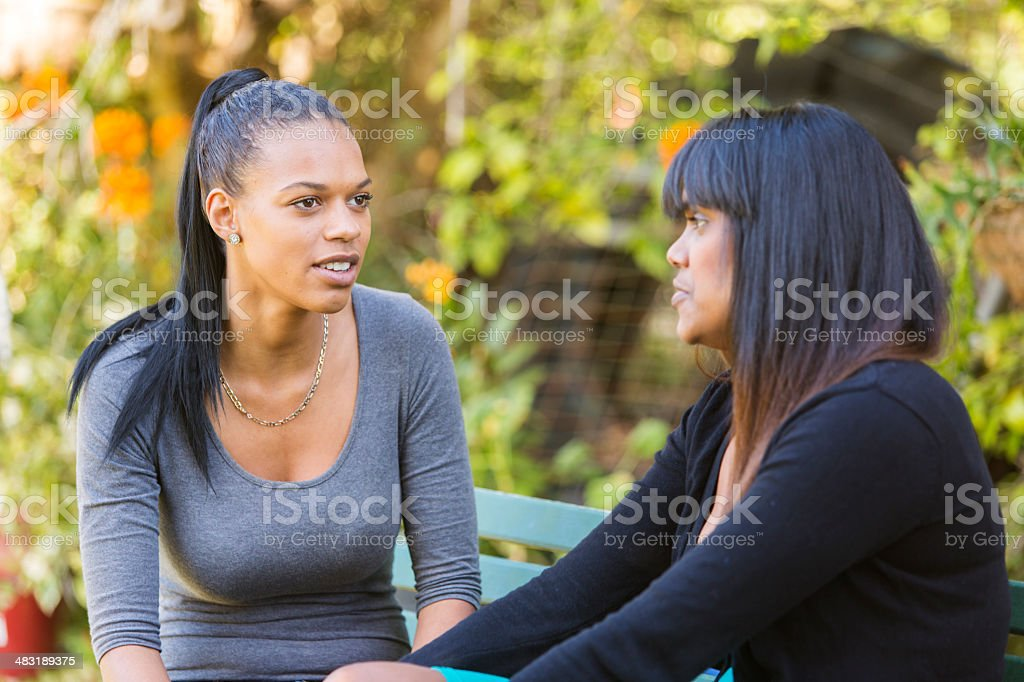 Women Having a Discussion stock photo