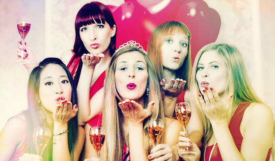 Bachelor and bachelorette party stock photos
