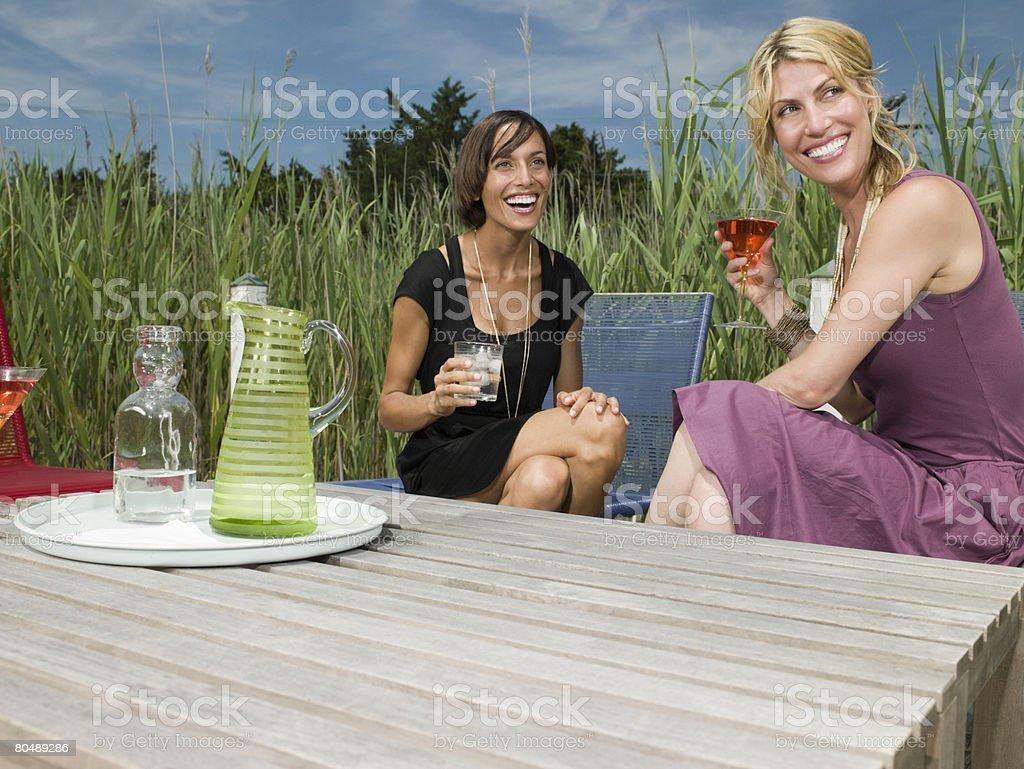 Frauen, Getränke Lizenzfreies stock-foto