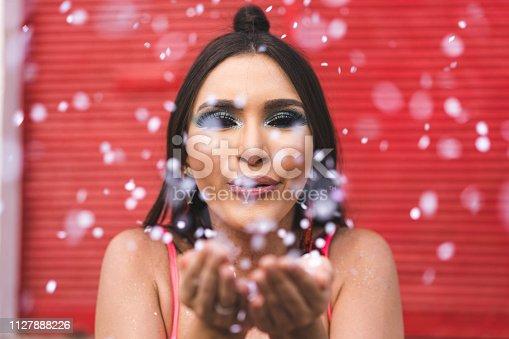 Beauty, Glitter, Women, Confetti, Celebration
