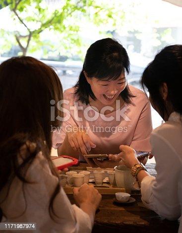 Women having tea in Tea Room