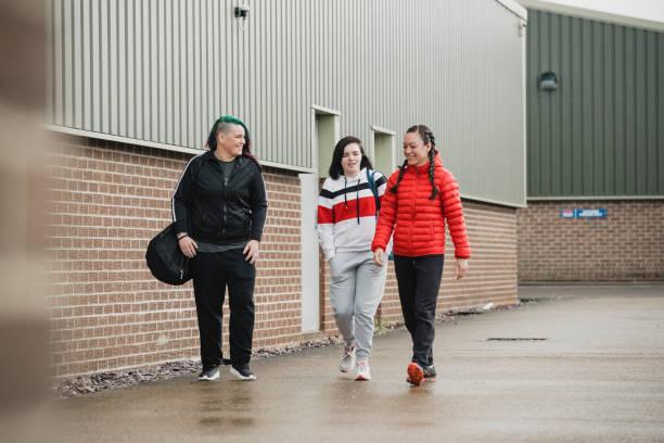 Women Heading to the Gym stock photo