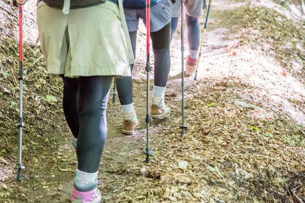 女性のハイキング  - 登山 ストックフォトと画像