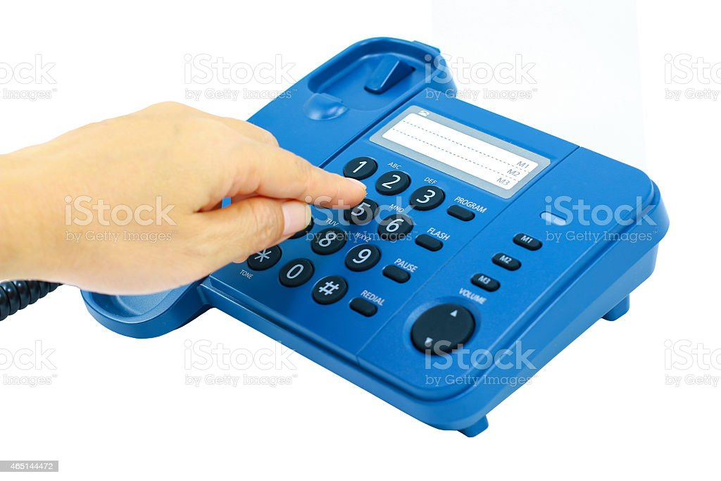 Women hold the phone stock photo