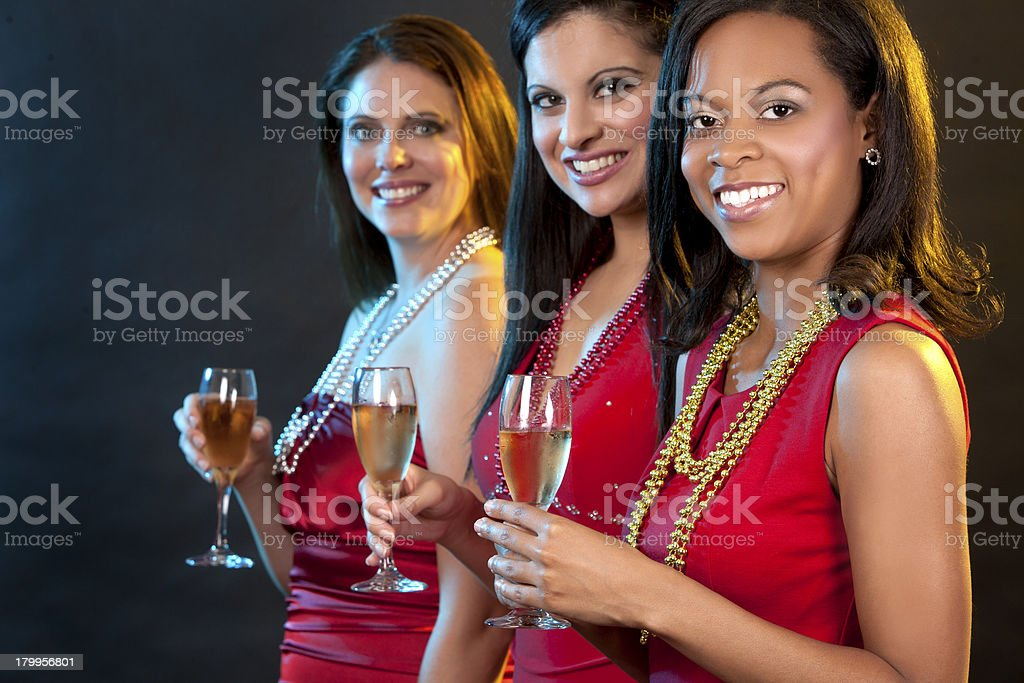women holding champagne glasses royalty-free stock photo
