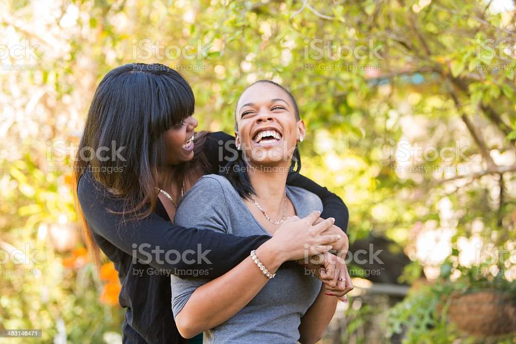 Women Hugging royalty-free stock photo