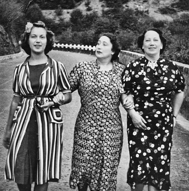 Women in 1930 stock photo