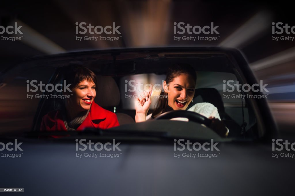 Women In A Car Driving Fast Stock Photo Download Image Now Istock