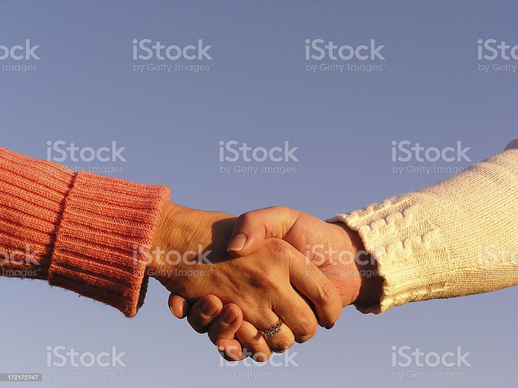 Women in Agreement royalty-free stock photo
