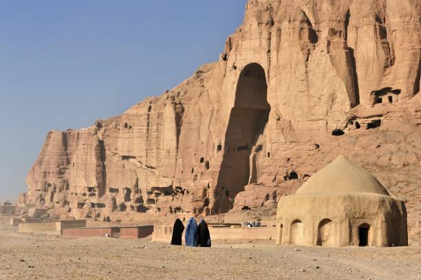 Women in burka, Bamyan, Afghanistan stock photo