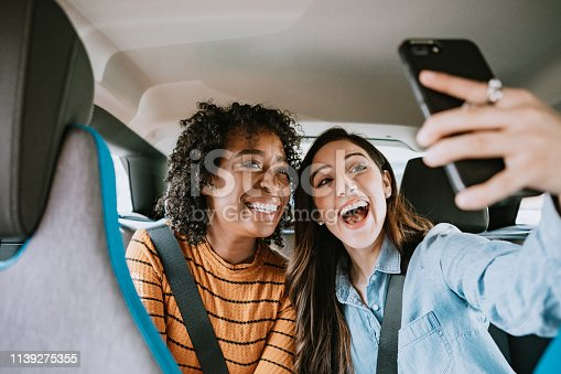 istock Women In Car Rideshare In City of Los Angeles 1139275355