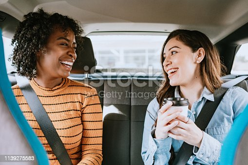 istock Women In Car Rideshare In City of Los Angeles 1139275583