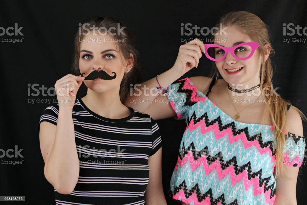 Women In Disguise stock photo