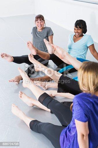 istock Women in exercise class 535724703