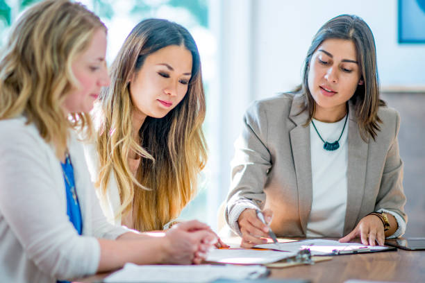 Women in finance stock photo