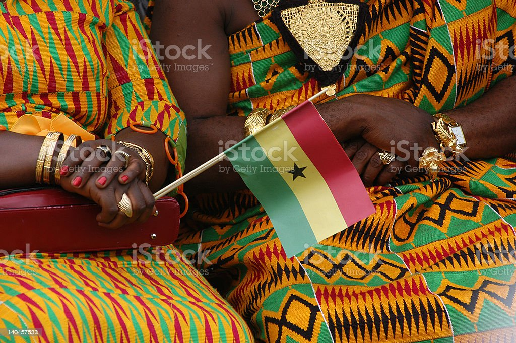 Women in Ghana celebrate independence day stock photo
