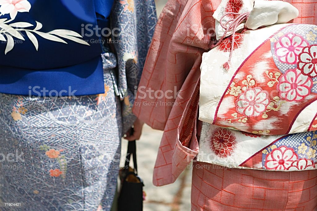 Women in kimonos stock photo