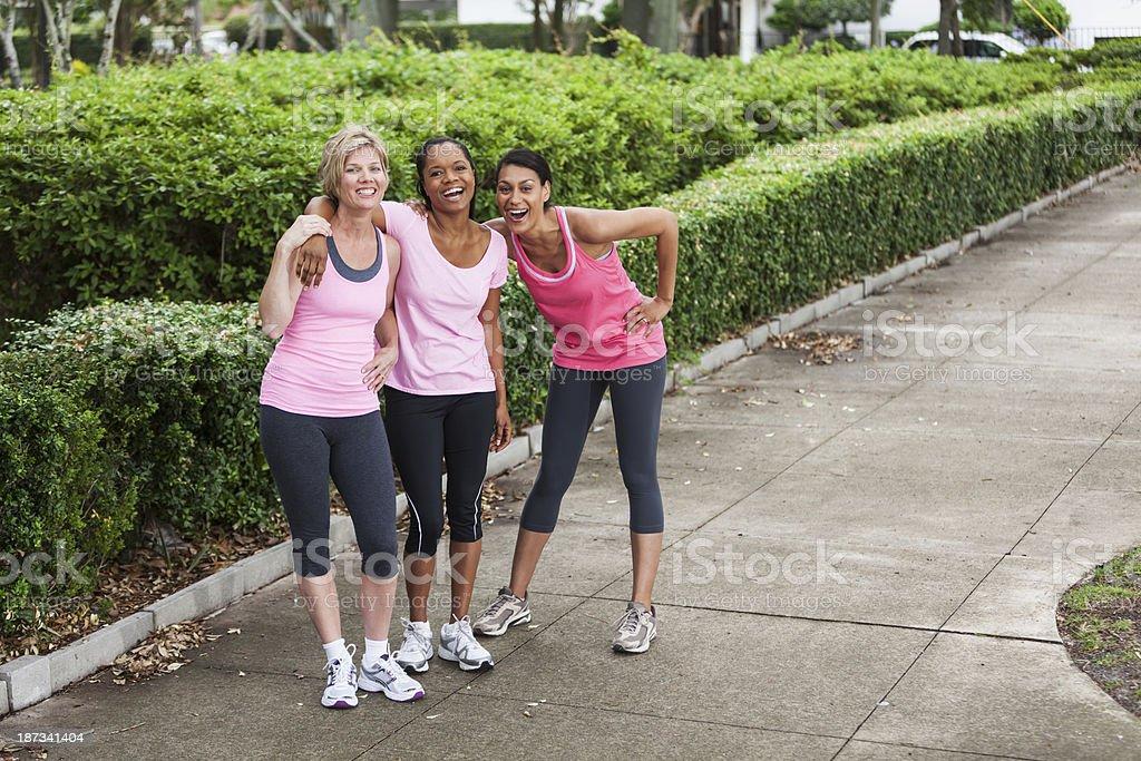 Women in pink stock photo