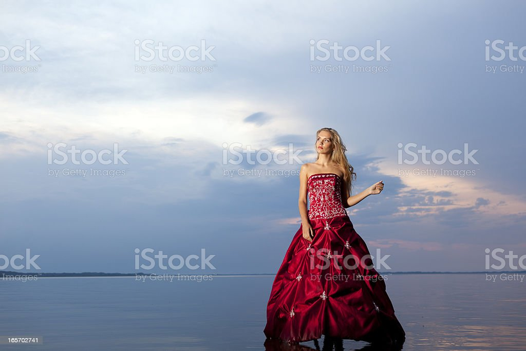 Women in red dress royalty-free stock photo