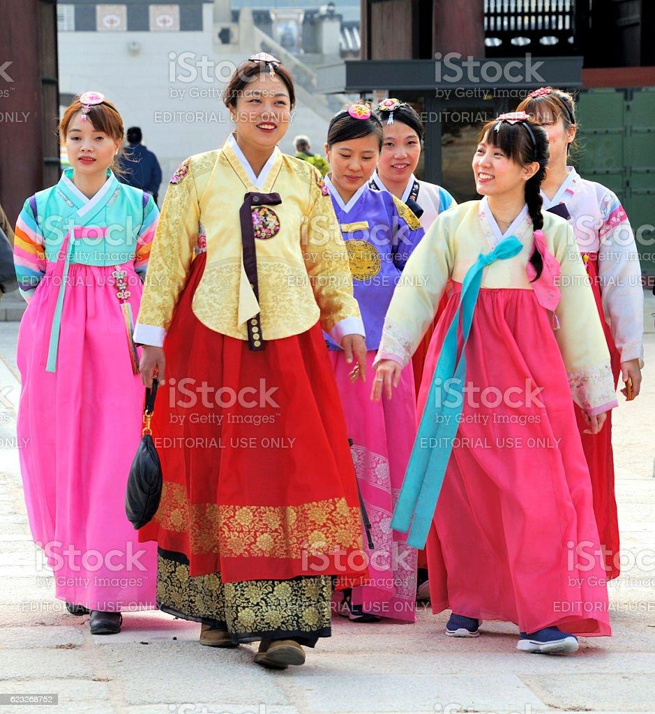 Women in Seoul stock photo