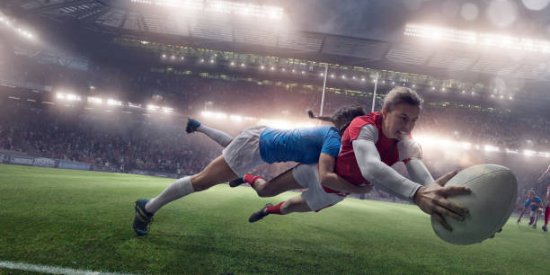 women in sport - rugby stock photos and pictures
