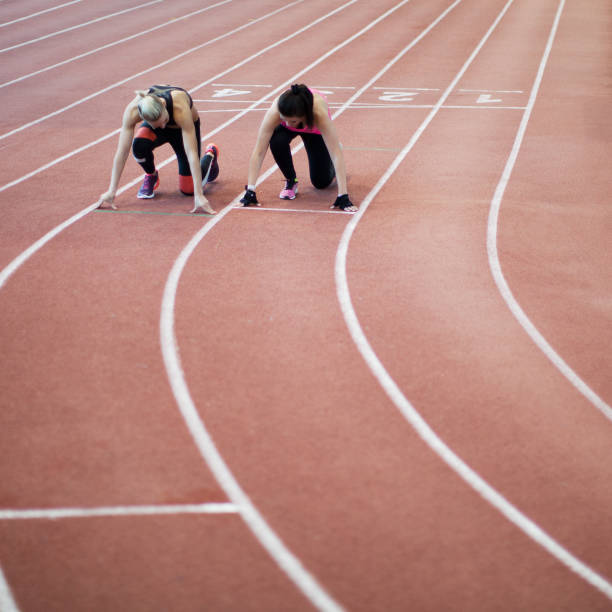 Women in Sport Women in Sport women's track stock pictures, royalty-free photos & images
