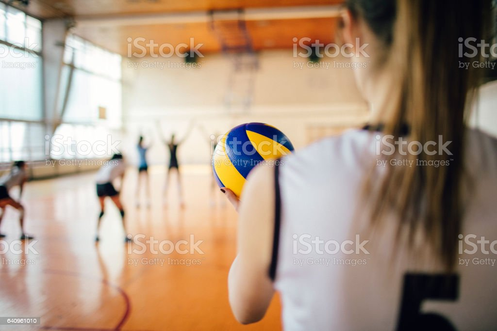 Women In Sport - Volleyball stock photo
