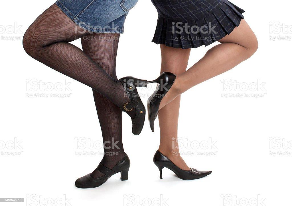 women in stiletto shoes stock photo
