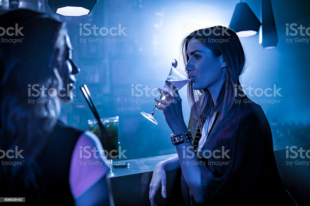 Women in the bar stock photo