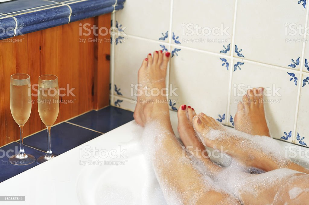 women in the bath together royalty-free stock photo