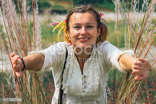 istock women in the feather grass 1011632130