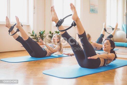 Women in the fitness center